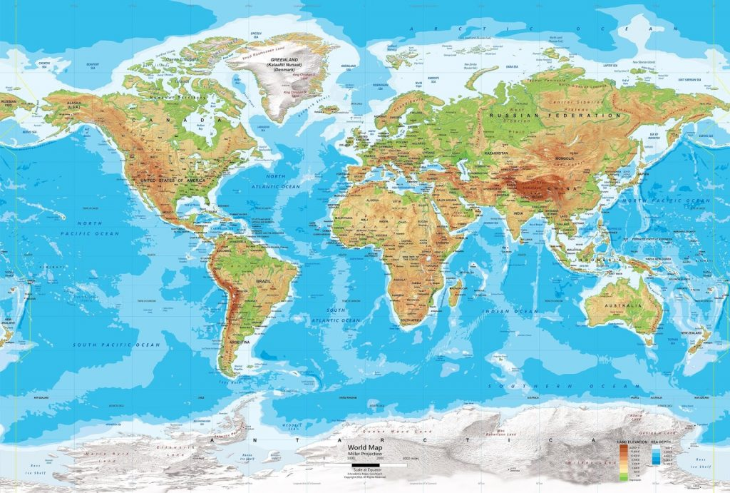 The world map pdf- Reducing complexity of reading the world map